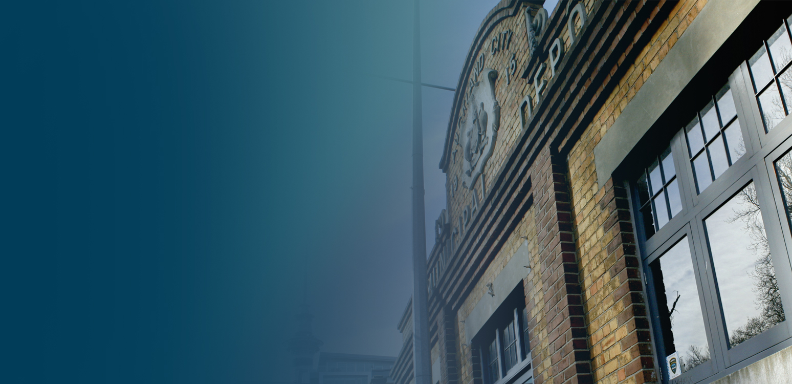 Background Blue over Victoria Park Market Wall