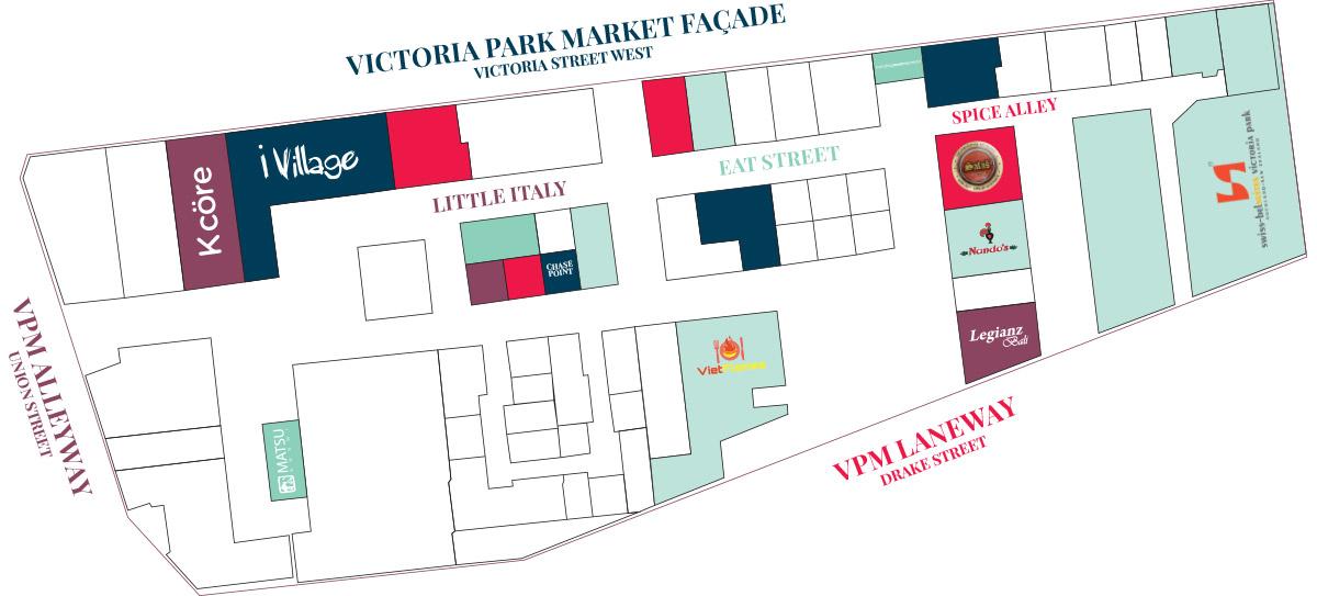 Level 1 Map of Victoria Park Market