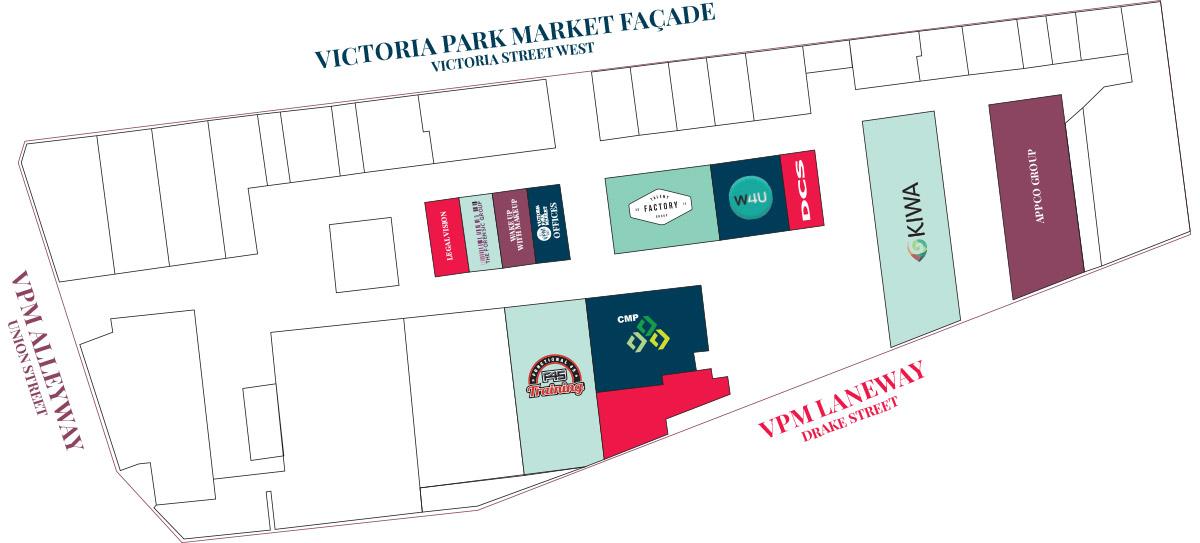 Level 2 Map of Victoria Park Market